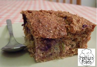 Gâteau à la rhubarbe et au cassis (Dukan)